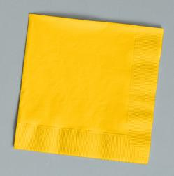 Schoolbus Yellow beverage napkins