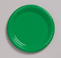 Emerald Green 10 1/4 inch plastic plate