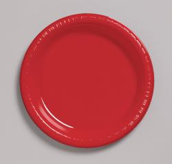 Classic Red 7 inch plastic plate