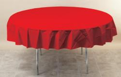 Classic Red 82 inch octy round tablecover