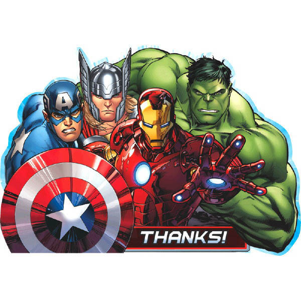 To Do S The Ultimate Party Store Avengers Thank You Cards