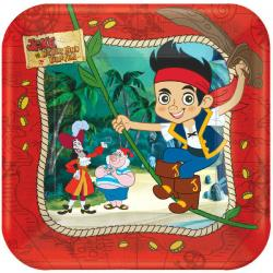 Jake and the Never Land Pirates 7in Square Plates