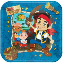 Jake and the Never Land Pirates 9in Square Plates