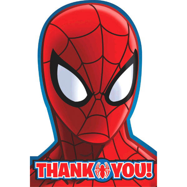 To Do S The Ultimate Party Store Spiderman Thank You Cards