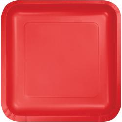 Classic Red 9-1/4 inch square plates