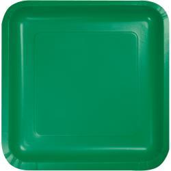 Emerald Green 7-1/8 inch square plates