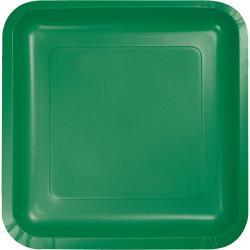 Emerald Green 9-1/4 inch square plates