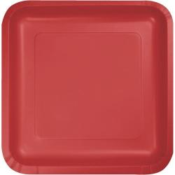 Classic Red 7-1/8 inch square plates