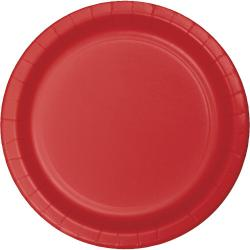 Classic Red 9 inch paper plate