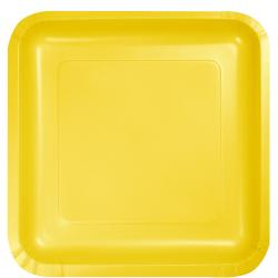 Schoolbus Yellow 9-1/4 inch square plates