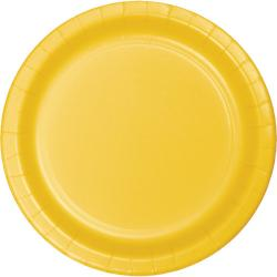 Schoolbus Yellow 9 inch paper plate