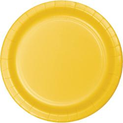 Schoolbus Yellow 7 inch paper plate